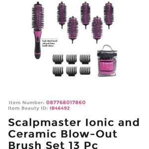 Scalp master Blow-Out Brush Set